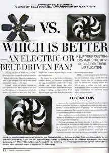 Which is Better – an Electric or Belt-driven Fan?